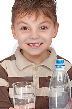 Boy With A Bottle Of Water Royalty Free Stock Photo - Image: 19168245