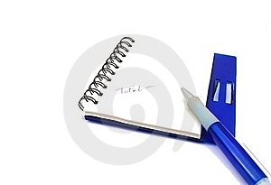 A Notebook And A Pen Isolated Stock Photography - Image: 19168352