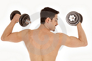 Man Workout Shirtless Turn Head Royalty Free Stock Images - Image: 19168539