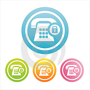 Colorful Phone Signs Royalty Free Stock Image - Image: 19171866