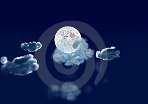 Moon In Clouds Royalty Free Stock Images - Image: 19174279