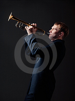 Trumpet Player Stock Photo - Image: 19177480