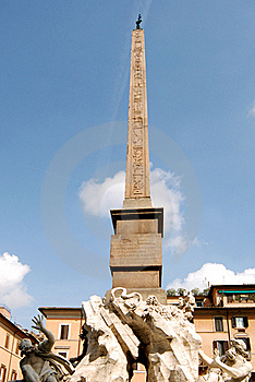 Navona's Obelisk Royalty Free Stock Images - Image: 19177559