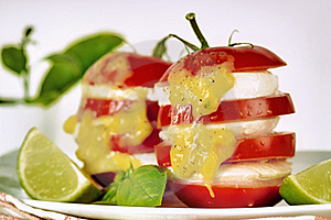 Tomato With Mozzarella Royalty Free Stock Photos - Image: 19177948
