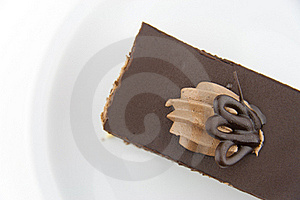 Chocolate Cake On A Plate Stock Images - Image: 19181544