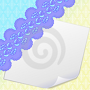 Blank Sheet Of Paper And Damask Royalty Free Stock Images - Image: 19181789