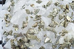 Quartz With Pyrite Royalty Free Stock Photo - Image: 19182145