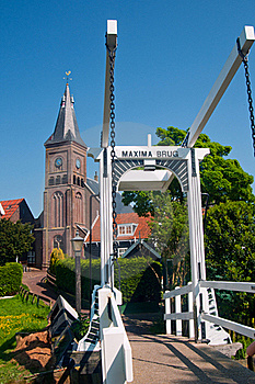 Maxima Bridge In Village Marken Stock Image - Image: 19183571