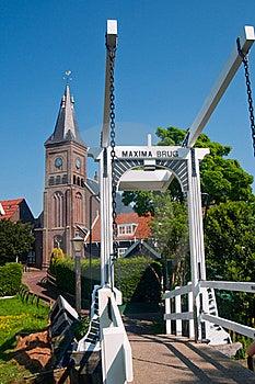 Maxima Bridge In Village Marken Stock Image - Image: 19183571