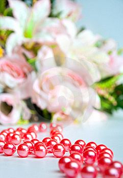 Red Beads Royalty Free Stock Photos - Image: 19184058