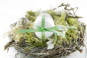 Easter Egg In The Nest Stock Photography - Image: 19185432