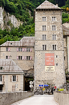 St Maurice Chateau, Switzerland Stock Image - Image: 19185891