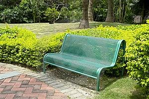 Bench In Garden Royalty Free Stock Photos - Image: 19188448