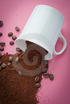 Coffee Grind Spill Royalty Free Stock Image - Image: 19189256