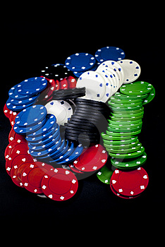 Poker Chips Royalty Free Stock Images - Image: 19189989