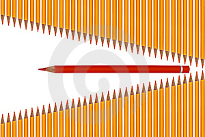 Spikey Colored Crayons Stock Image - Image: 19190451