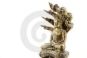 Buddha Image With Naga Royalty Free Stock Image - Image: 19190856