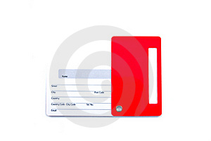 Name Tag For Luggage Isolated Stock Photography - Image: 19190932