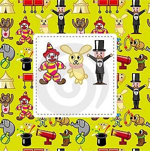 Cartoon Circus Card Stock Photo - Image: 19190960