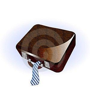 Big Brown Suitcase Royalty Free Stock Photo - Image: 19191415