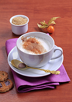 Coffee And Steamed Milk Royalty Free Stock Photos - Image: 19193578