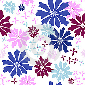 Floral Seamless White Pattern Stock Photography - Image: 19196072