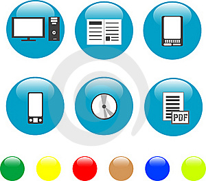 Home Electronics And Equipment Icons Stock Images - Image: 19197214