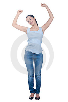 Portrait Of Happy Excited Girl Royalty Free Stock Images - Image: 19197569