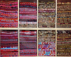 Colorful Scarves Royalty Free Stock Photo - Image: 19197595