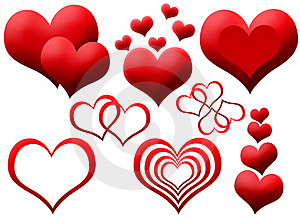Clipart Of Red Hearts Royalty Free Stock Image - Image: 19197756