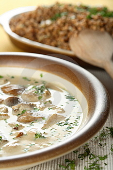 Mushrooms soup Royalty Free Stock Image