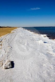 Frozen Atlantic Beach Stock Image - Image: 1926411