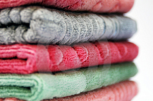 Stock Photo - Stack of towels