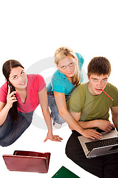 Friends Are Doing Homework Royalty Free Stock Photo - Image: 19200065