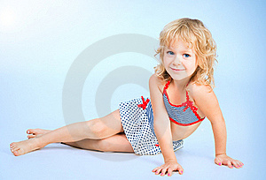 Adorable Smiling Playful Girl 4 Years Old Stock Image - Image: 19202421