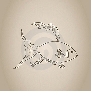 Gold Small Fish Royalty Free Stock Photography - Image: 19203187