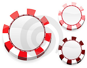 Blank Red Casino Chips Royalty Free Stock Image - Image: 19203536