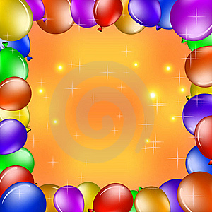 Balloons And Gold Stars Stock Images - Image: 19204644