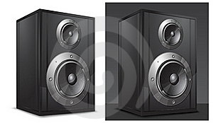 Acoustic System In Black Stock Photos - Image: 19204913
