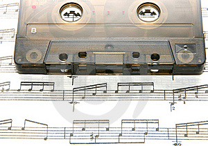 Tape On The Notes Stock Images - Image: 19205344