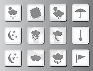 Weather Icon Set 2 Stock Image - Image: 19206031