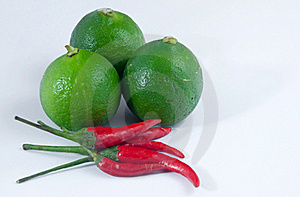 Lime And Chilli Royalty Free Stock Photography - Image: 19206827