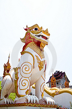 Singha Thai Statue Model Royalty Free Stock Photos - Image: 19207078