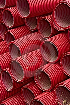 Red Tubes Stock Image - Image: 19207861
