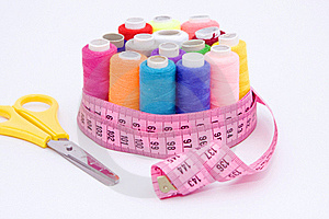 Still Life Various Sewing Accessories Royalty Free Stock Photos - Image: 19208358