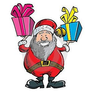 Cartoon Santa With A White Beard Royalty Free Stock Image - Image: 19210046