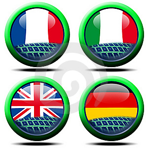 European Flags Royalty Free Stock Photography - Image: 19210567