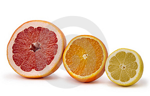 Grapefruit, Orange And Lemon Stock Images - Image: 19212034