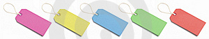 Five Blank, Coloured Tags. Stock Photography - Image: 19212422