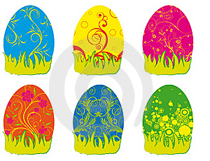 Eastern Rabbit Searching Eggs Color Royalty Free Stock Images - Image: 19213829